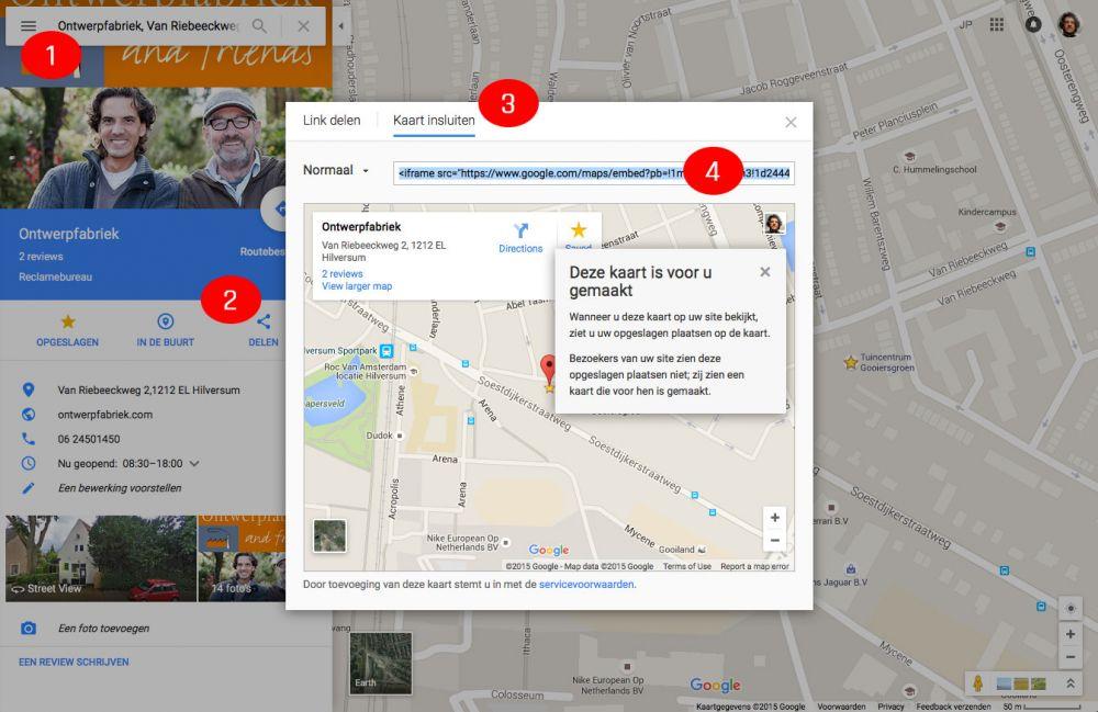 Google maps insluiten